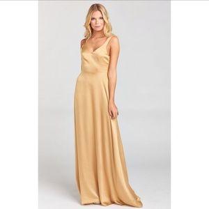 Show Me Your Mumu Gold Maxi Dress